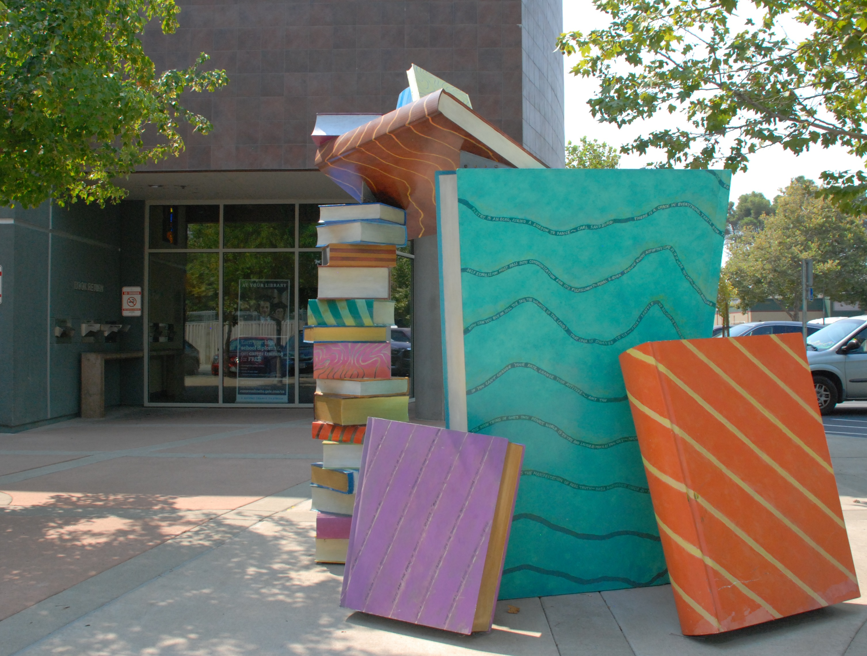 photo of Catch a Book sculpture